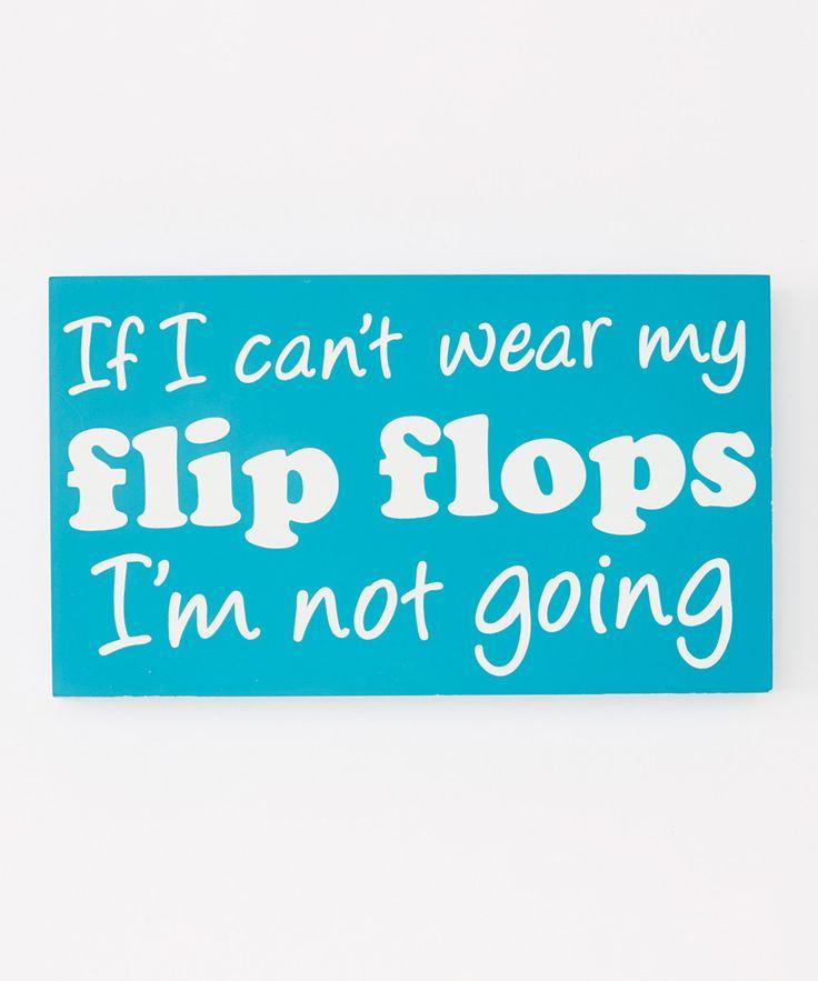 Love this Blue 'Flip Flops' Box Sign by Dennis East International on #zulily! #zulilyfinds