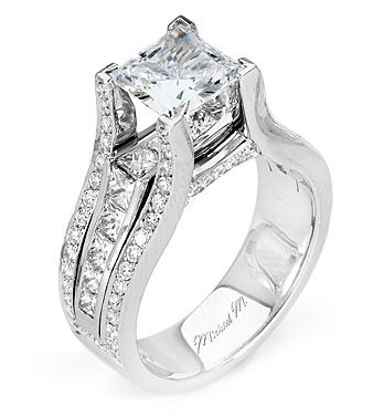 from michael m collection handcrafted platinum engagement ring featuring a stunning stream of channel
