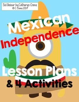 """Mexican Independence Day lessons for middle school and early high school Spanish students - """"El grito"""" videos, concept map, """"Viva Mexico"""" song, history worksheet, quiz. By Sol Azúcar $tpt"""