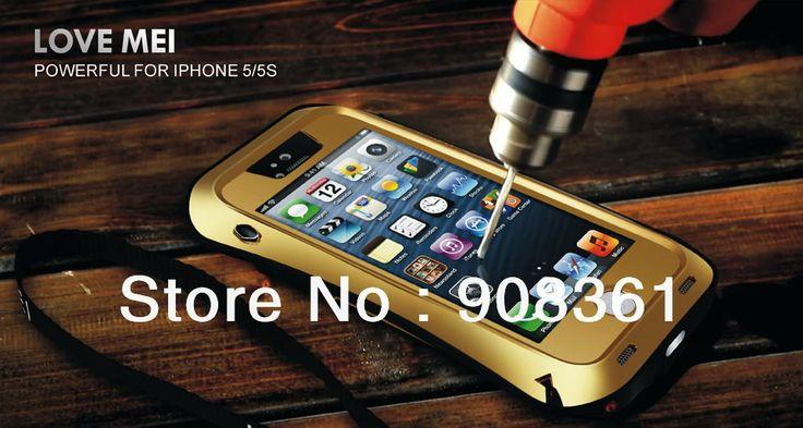 Original Taktik Extreme waterproof Dirtproof Metal Aluminum case cover for Iphone 5S+Gorillia Glass $29.99