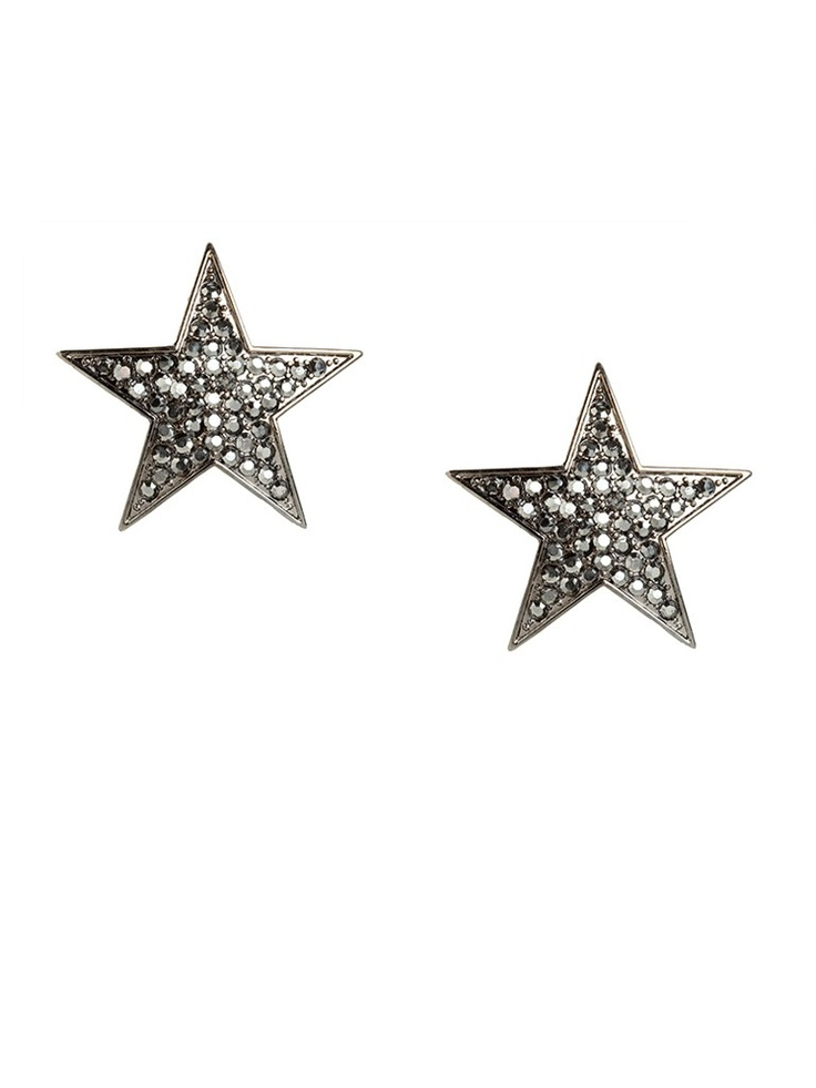 Be a rock star in these striking statement earrings, which come shaped like graphic stars. They're tough-chic and glamorous all at once.