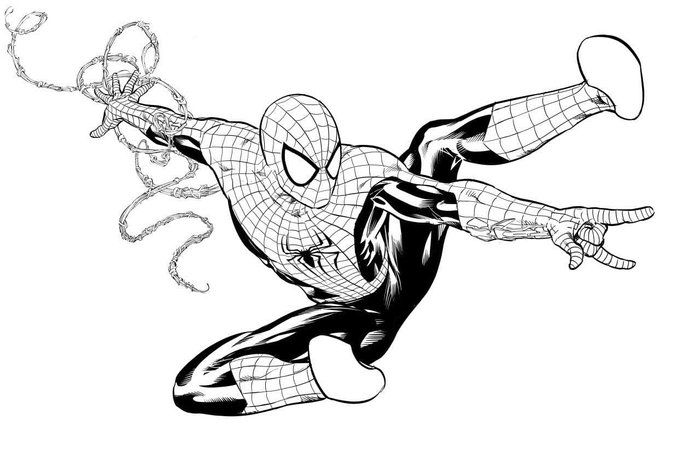 Black Spiderman Coloring Pages Spiderman Coloring Mike Deodato Black Spiderman