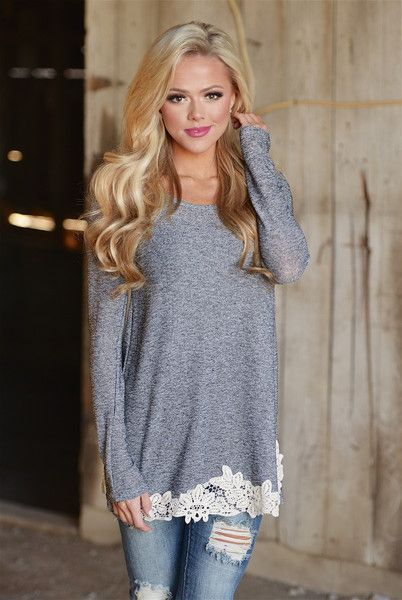 Happily Ever After Tunic - Ivory Trim from Closet Candy Boutique #fashion #ootd