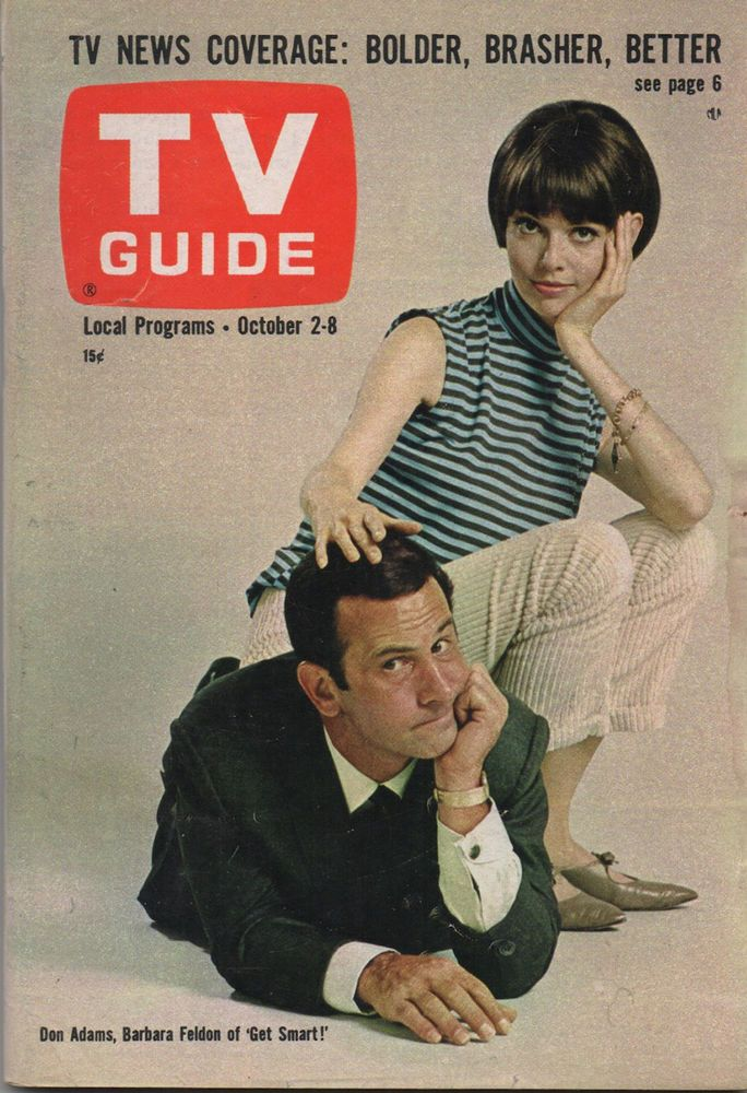 1965 tv guide don adams barbara feldon of get smart no