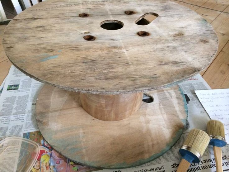 Chalk Paint Project! Love to see what our fab customers have been up to! This very clever customer used Old White to upcycle this cable hold...
