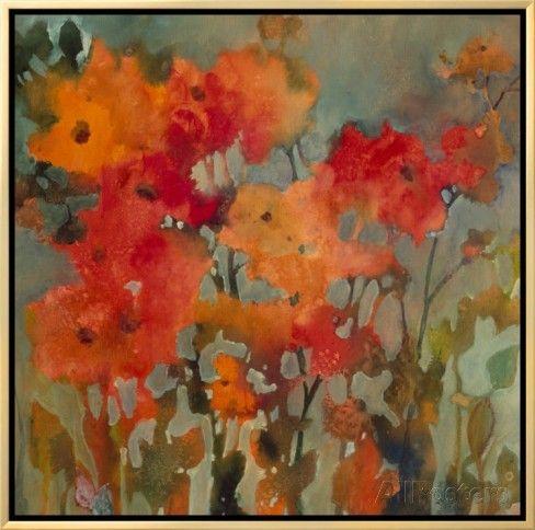 Orange Flower Impressão em tela emoldurada