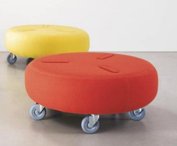 Reminds me of elementary school gym class and using the scooters. Bump Ottoman - contemporary - ottomans and cubes - dune-ny.com