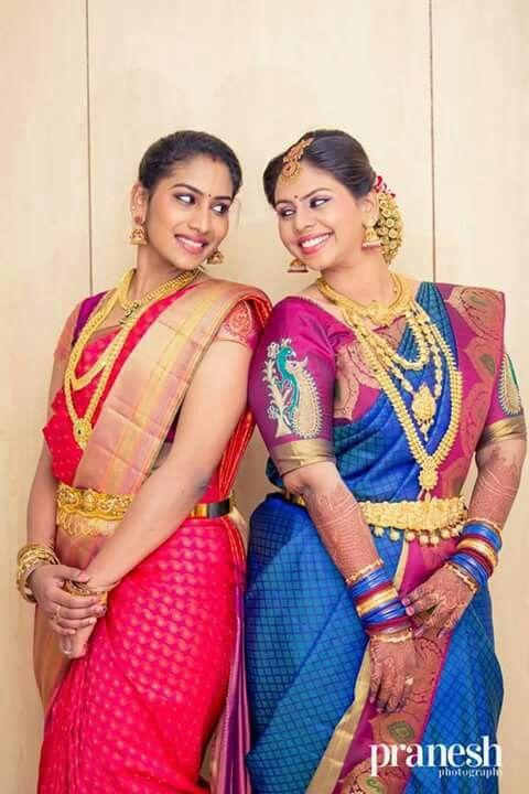 South Indian beauty. Silk sari.