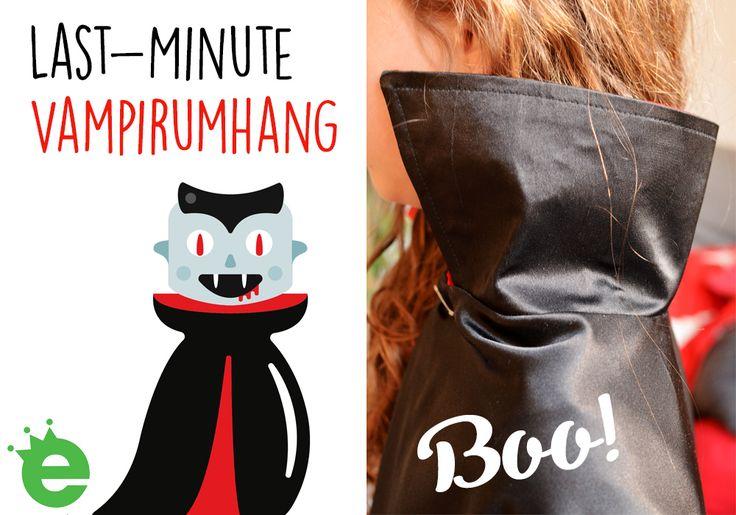 Last Minute Kostüm nähen: Vampirumhang - Vampir-Cape für Kinder selbermachen