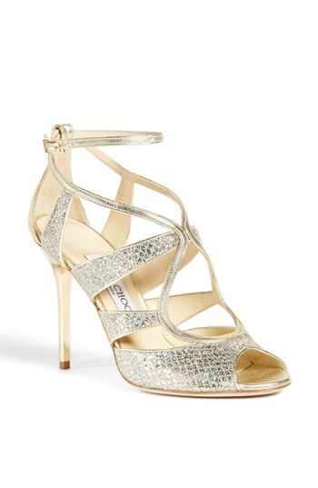 Sophisticated Style| Serafini Amelia | Jimmy Choo 'Kelsey' Glitter Sandal available at #Nordstrom