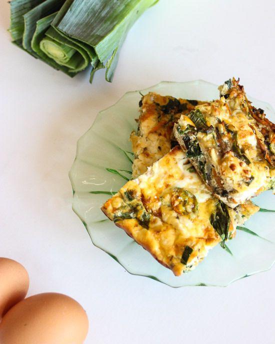 In the kitchen: Egg vege frittata {Make Do Home}