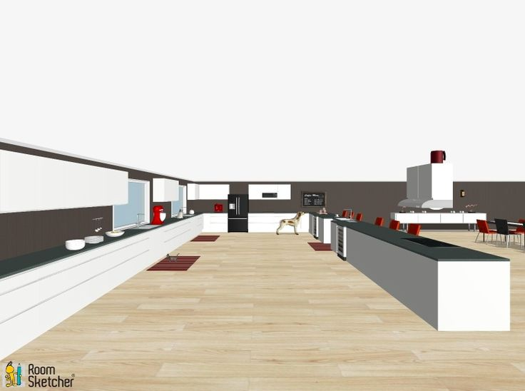 Simple view of the kitchen straight on