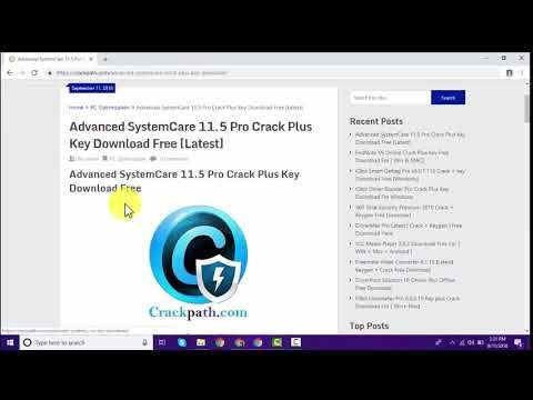 advanced systemcare 11.4 license key 2018