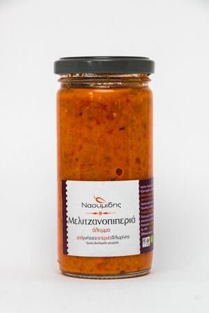 ''Naoumidis'' Pate Melitzanopiperia BIO (pate of red peppers with eggplant)