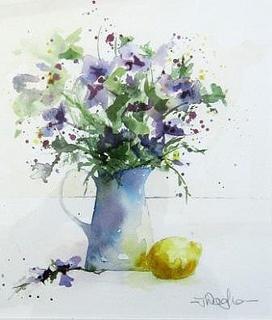 Blue jug with lemon | Tracy Waghorn: Photo
