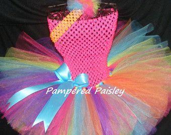 Pink party tutuBright tutu1st birthday tutu by PamperedPaisley