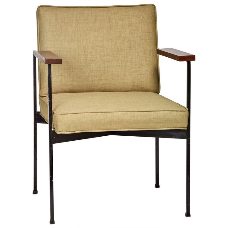 Mid-Century Modern Armchair by Pacific Iron Attributed to Milo Baughman 1