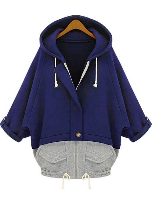 Shop Blue Grey Hooded Pockets Loose Sweatshirt online. SheIn offers Blue Grey Hooded Pockets Loose Sweatshirt & more to fit your fashionable needs.