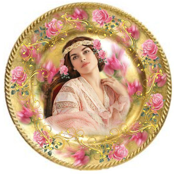 Antique Portrait Plate\   sc 1 st  Pinterest & 175 best Portrait Plates images on Pinterest   Decorative plates ...