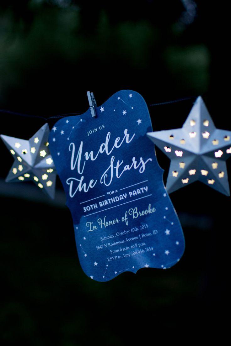 Under the Stars Birthday Celebration Ideas