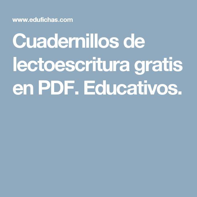 Cuadernillos de lectoescritura gratis en PDF. Educativos.