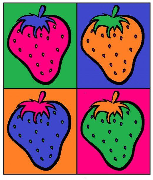 Finished strawberry pop art.                                                                                                                                                                                 More