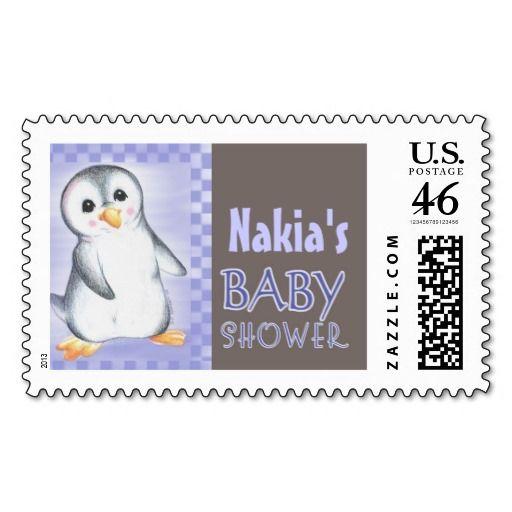 Penguin Boy USPS Baby Shower Postage