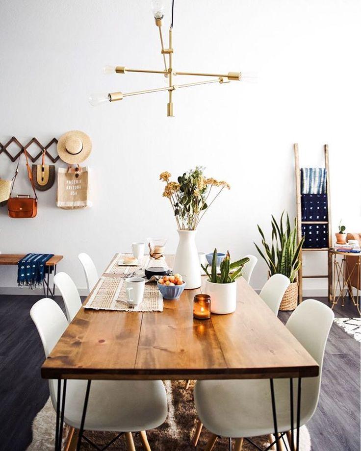 New Darlings - Dining Room - Mid-Century interior style - Cowhide rug