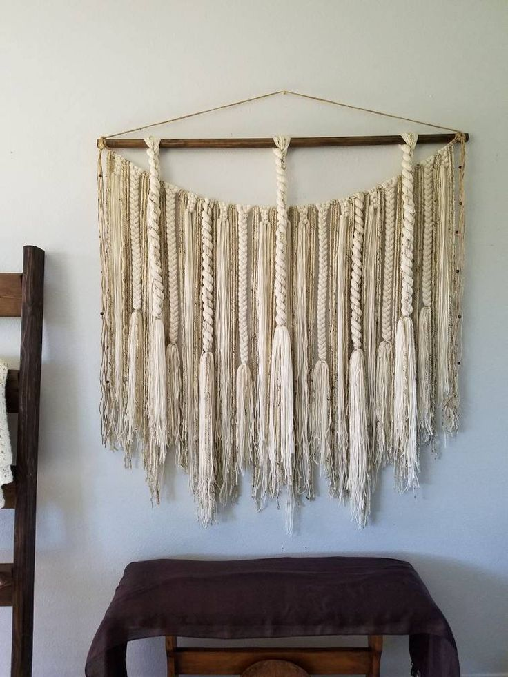 Large Macram 233 Wall Hanging Large Woven Wall Hanging Yarn