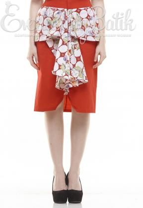 CA.11170 Red Lindsay Pekalongan Skirt catalog www.everlastingbatik.co.id