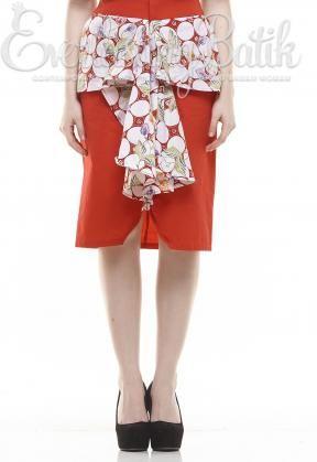 CA.11170 Red Lindsay Pekalongan Skirt catalog www.everlastingbatik.co.id