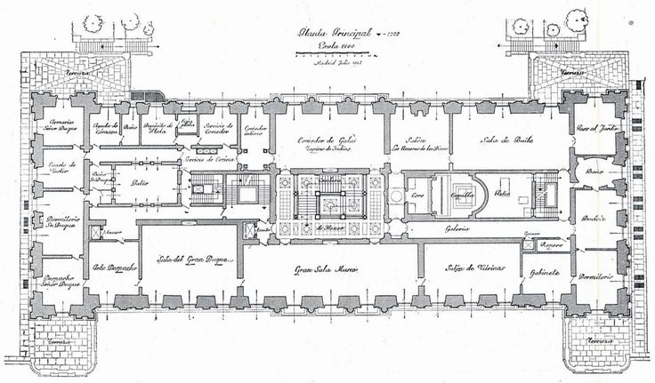 The Devoted Classicist: Palacio de Liria: The Madrid Residence Of The Duchess Of Alba  The First Floor Plan, Liria Palace.