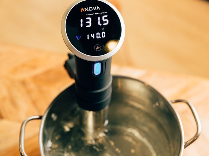 The maker of the immersion circulator collaborated with a Reddit user who connected his Amazon Echo Dot to his Anova cooker.