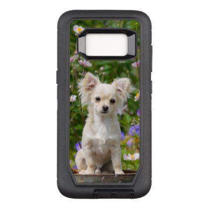 #cute - #Cute longhair cream Chihuahua Dog Puppy Pet Photo OtterBox Defender Samsung Galaxy S8 Case
