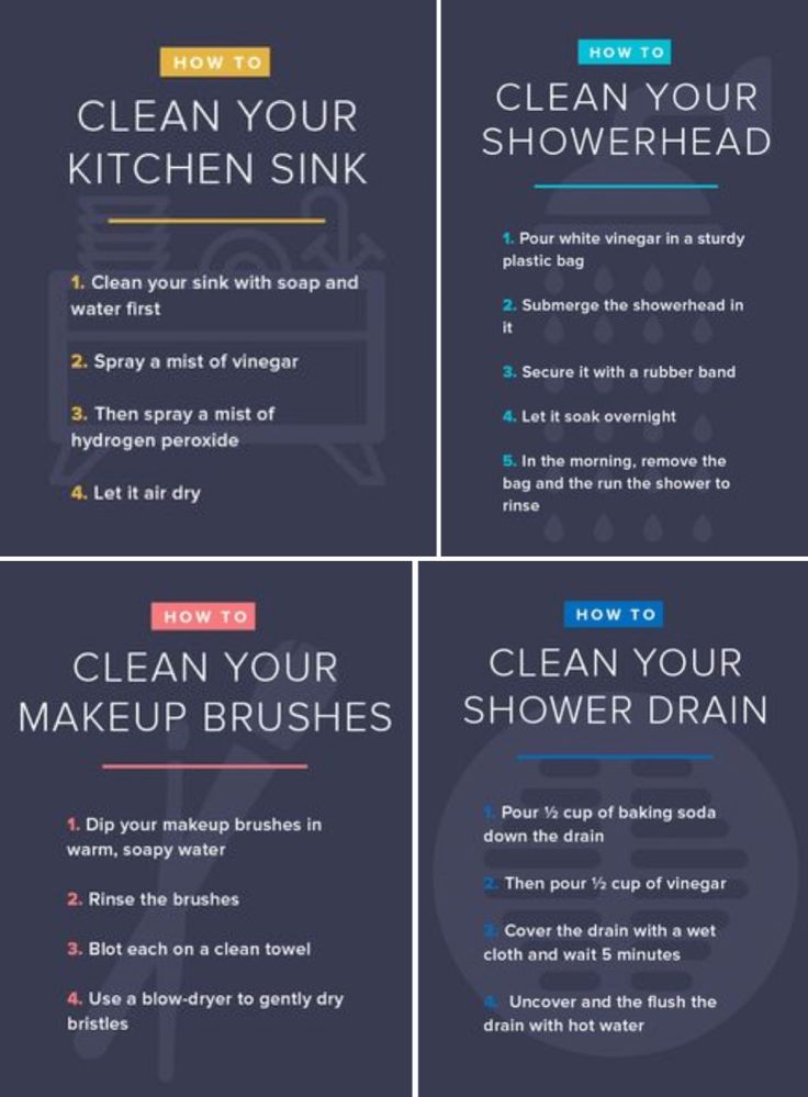 'How to clean kitchen sink, showerhead, makeup brushes and more...!' (via TODAY.com)