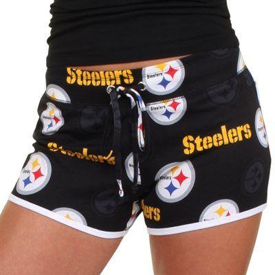 Pittsburgh Steelers Ladies Insider Shorts – Black