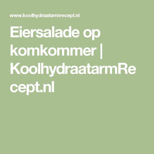 Eiersalade op komkommer | KoolhydraatarmRecept.nl