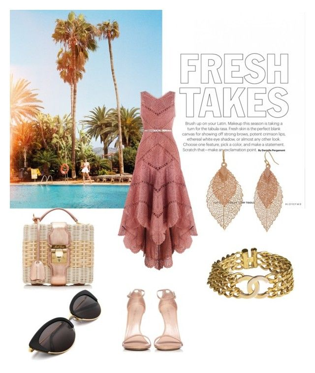 Pool party by lestariani on Polyvore featuring polyvore, fashion, style, Zimmermann, Stuart Weitzman, Mark Cross, Chanel, Bold Elements and clothing