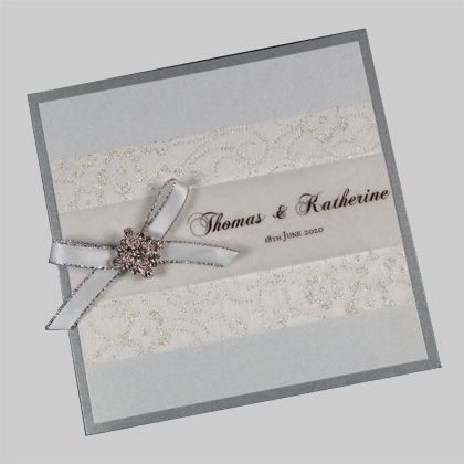 Wedding Invitations - these cards are supplied as a kit - everything is printed and cut to size - they just need assembly.