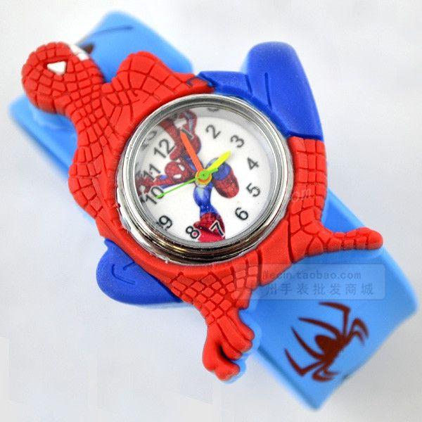 Cartoon child watch girl boy student Wristwatches Fashion & Casual watch electronic spider-man- free shipping worldwide