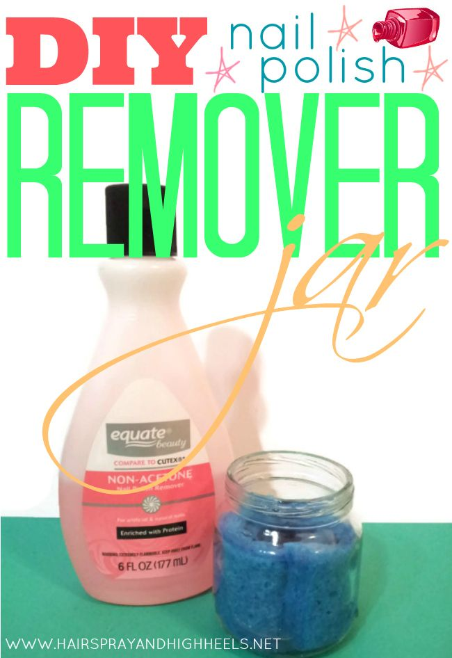 Diy nail polish remover jar via for Diy shoes with nail polish