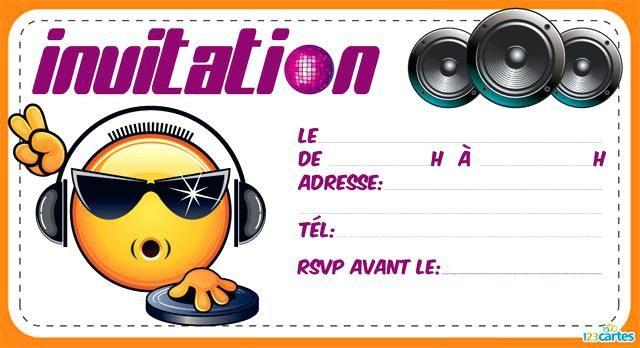 Carton Invitation Anniversaire Garcon