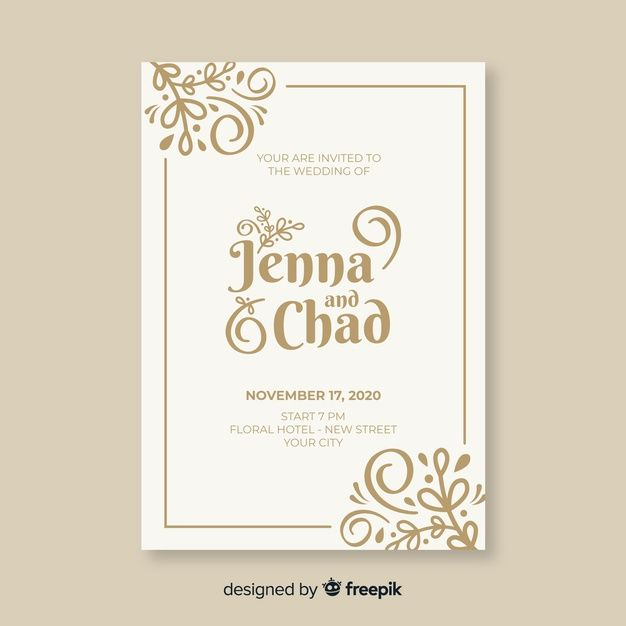 Download Vintage Ornamental Wedding Invitation Template For Free Vintage Wedding Invitations Templates Wedding Invitation Templates Vintage Wedding Cards