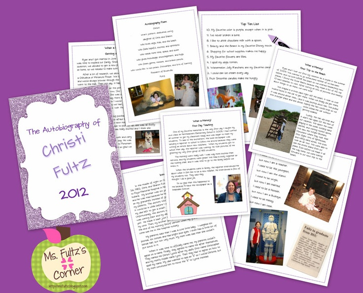 67 best Autobiographies images on Pinterest Writing prompts - autobiography template