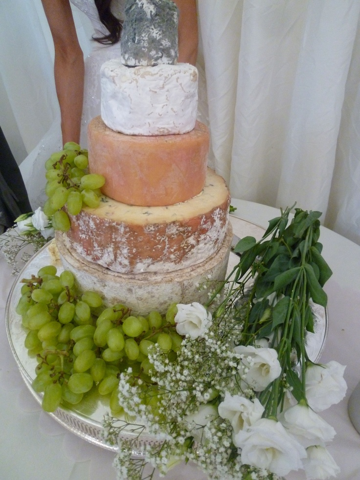 We love wedding cheese towers - perfect alternative to wedding cake!
