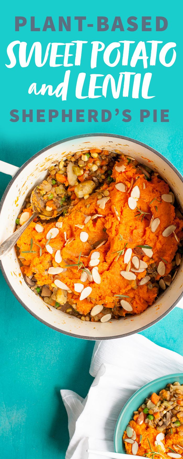 Sweet Potato and Lentil Shepherd's Pie is healthy comfort food epitomized, and the ultimate one pot wonder! Wholefully