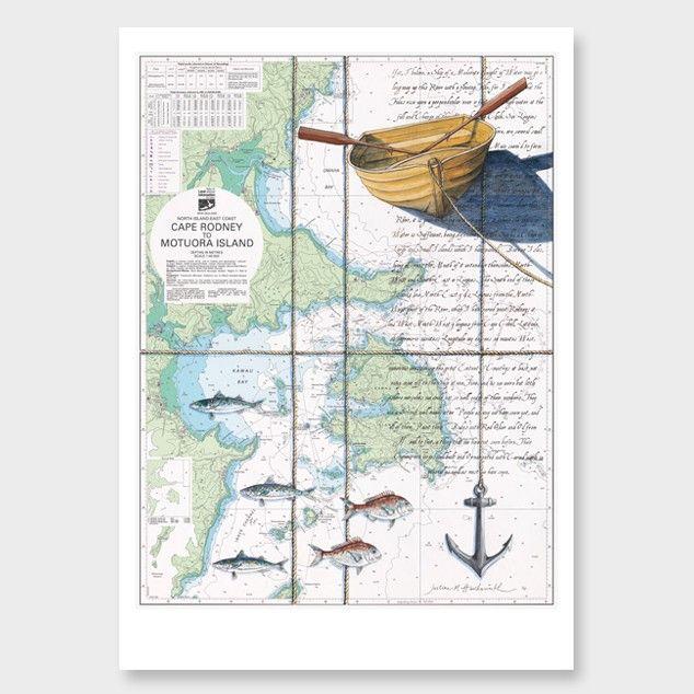 Kawau Bay Art Print by Justine Hawksworth - All Art Prints NZ Art Prints, Art Framing Design Prints, Posters & NZ Design Gifts | endemicworld