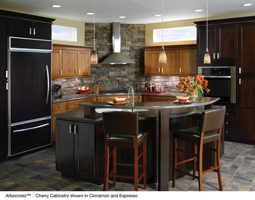 Beautiful Kitchen Example Displaying The Armstrong Cabinet Style Arborcrest With The  Espresso Finish