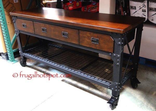 Whalen Industrial Metal & Wood Workbench #Costco #FrugalHotspot