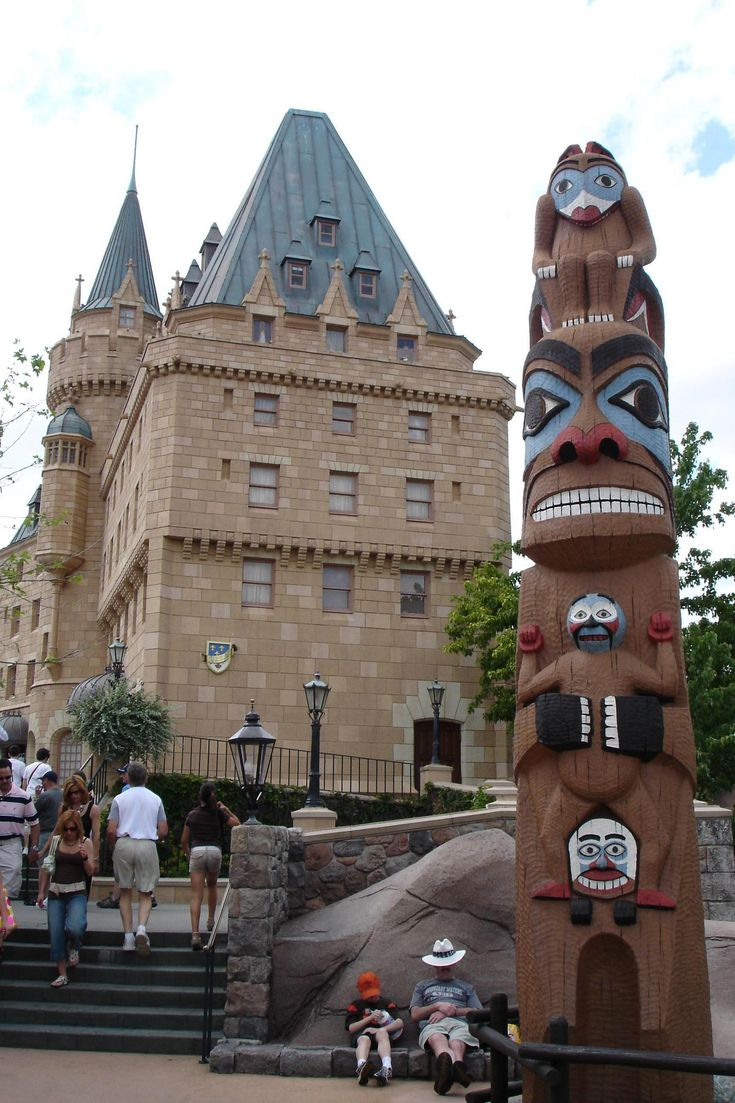 Canada - World Showcase...my favorite part of this picture is the guy in the hat napping. He is making that spot look so comfortable!!! (Not a direct link)